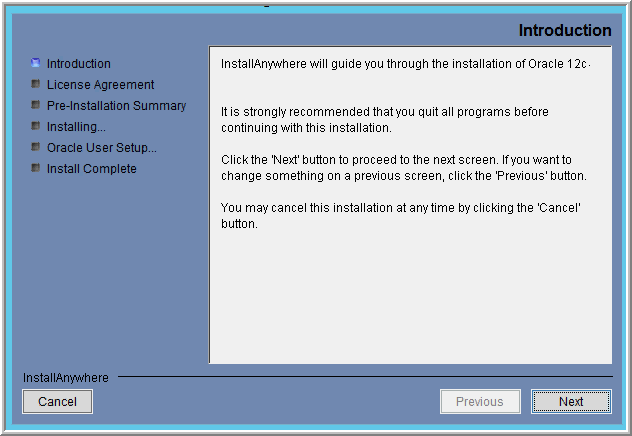 Task 3: Installing Oracle 12c Application Binaries (Windows) Version