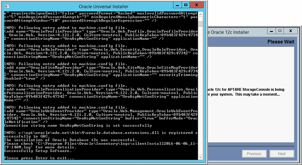 Task 3: Installing Oracle 12c Application Binaries (Windows) Version